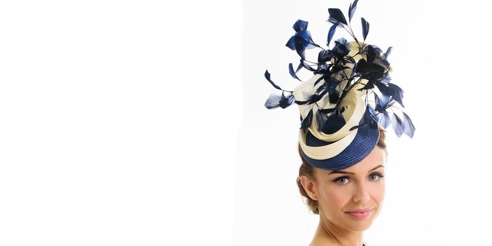 navy and cream hats for 2018 wedding races